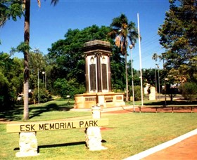 Esk War Memorial and Esk Memorial Park - Accommodation Gold Coast